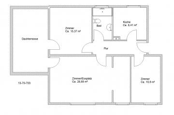 3-Zimmer-Wohnung mit großer Dachterrasse
